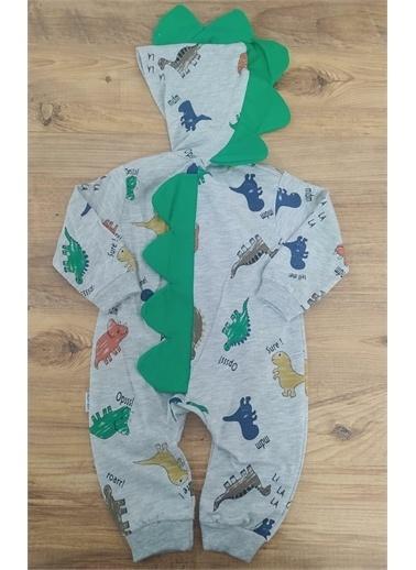 Riccotarz Erkek Bebek Yeşil Dinazorlu Tulum Renkli